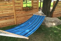 Come relax in the hammock!