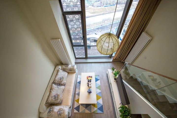 通州地铁六号线精装简约复式公寓