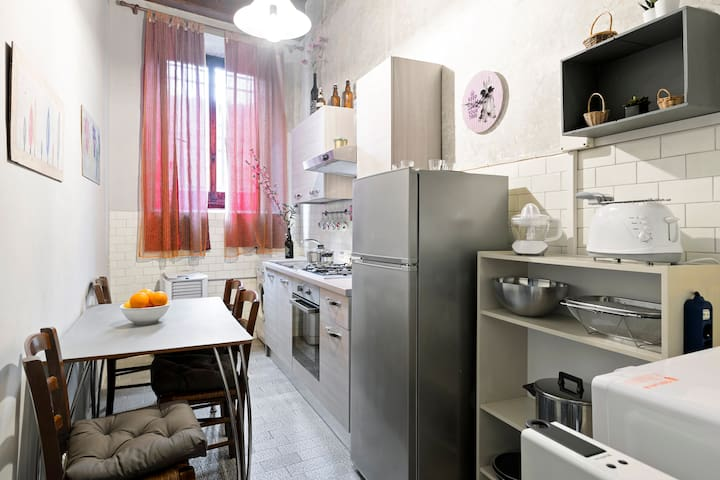 The equipped eat-in Kitchen