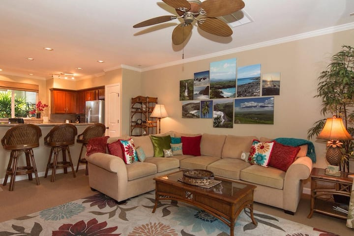 Waikoloa Beach Villas B2 - 2 Bedroom, 2 Bath Ground Floor Villa near Pool!