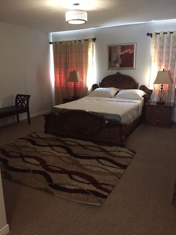 FURNISHED MASTER BEDROOM WITH PRIVATE WASHROOM