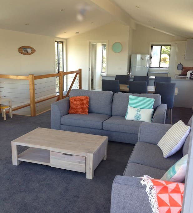 Comfy NEW furniture throughout