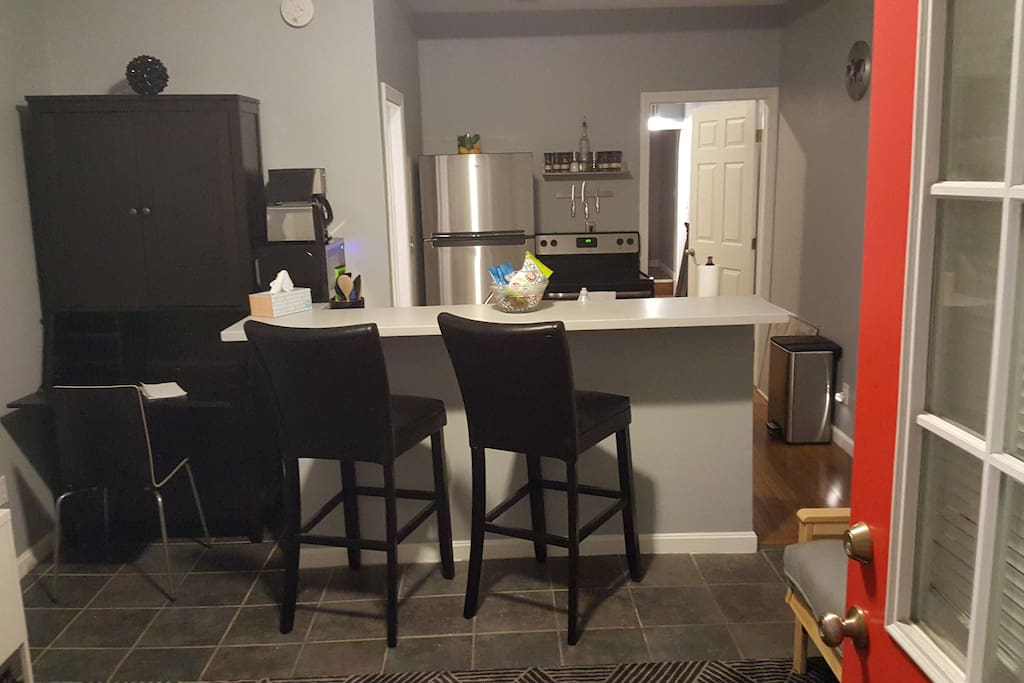 Entrance into living room / kitchen
