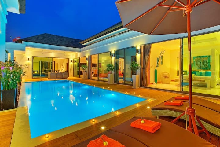 Talosy Villa (420 ㎡  3 bdr Pool, Near Rawai beach)