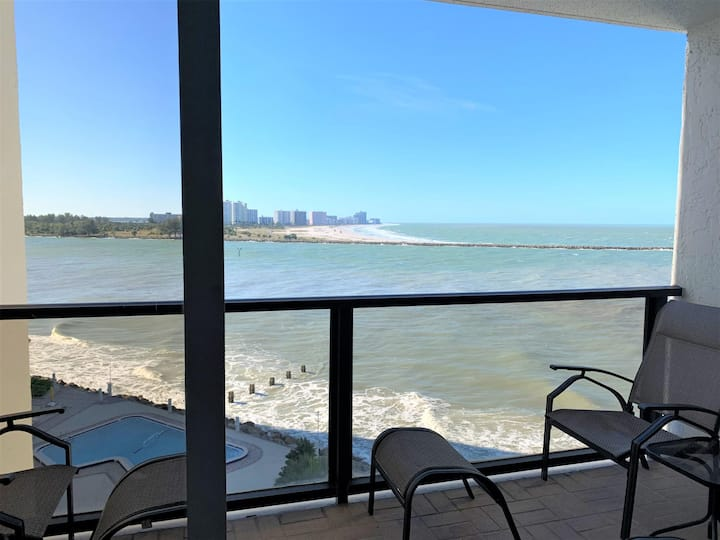 440 West Condos 804-N 440 West 804N Balcony Boasts Sunsets and Gulf Front Water Views, Everything You Need to Be Happy