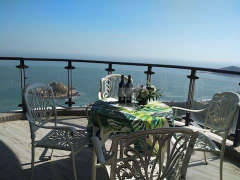 【杰克小镇】南澳岛风情海岸180度海景双床房出门沙滩看日出