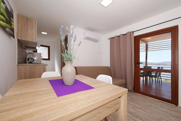 Two Bedroom House, beachfront in Biograd