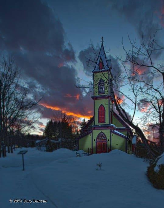En hiver, sous un ciel magique