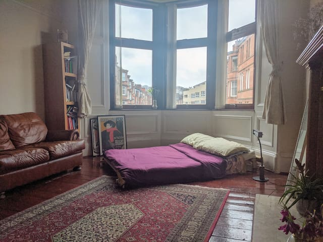 Large Cosy & Quiet Glasgow South Facing Room