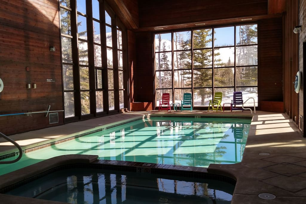 The pool and spa are just downstairs.