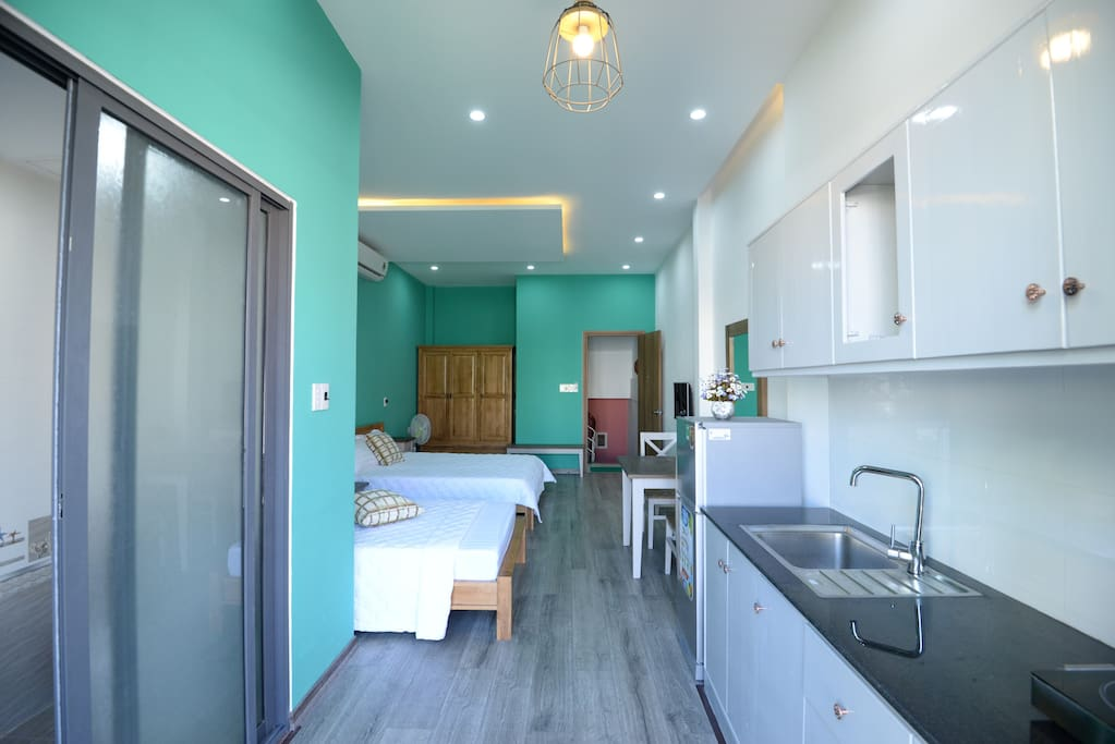 Rest room and kitchen