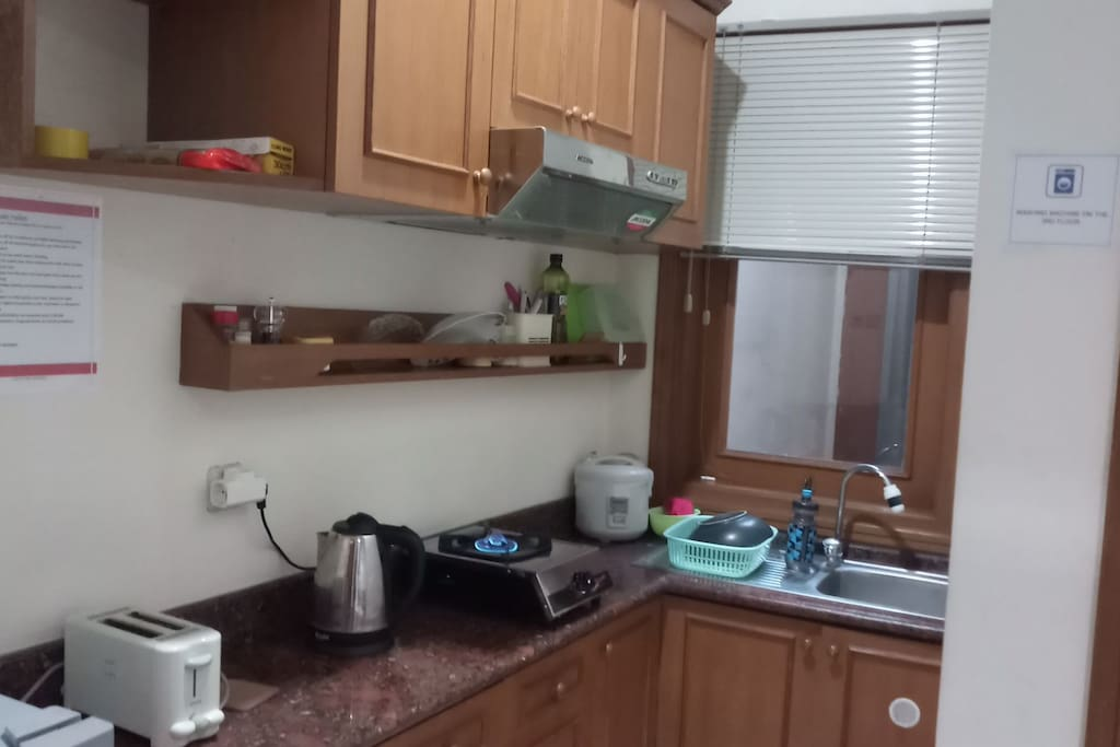 Private Kitchen c/w gas ztove, coffee pot, rice cooker and refrigerator