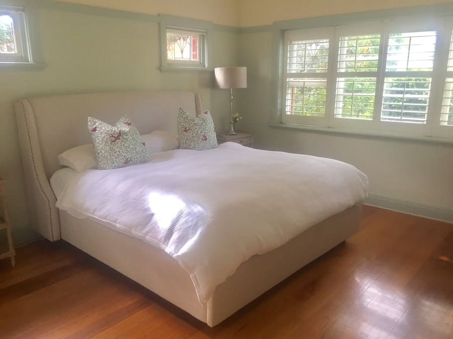 Master bed- king size, ground floor