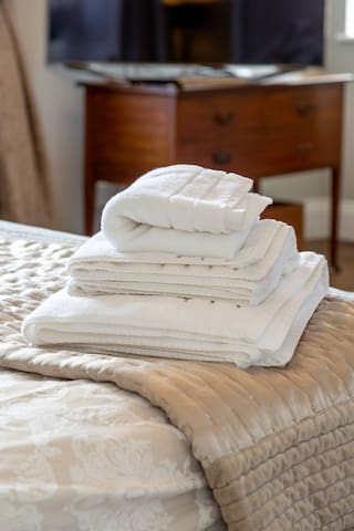 Towels Provided with each Bed