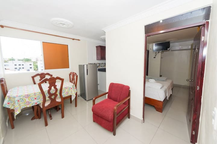 Free fresh linen, Free Wi-Fi and LAN Internet, Private parking space in secure lot. The air-conditioned apartments feature a LED-screen cable TV, a safety deposit box, full kitchenette, dining table, bathroom,  a shower, hot water - free toiletries