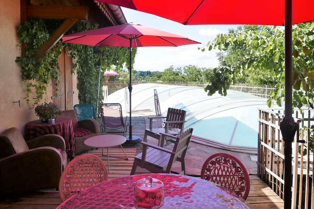 terrasse ensoleillée l'après-midi !