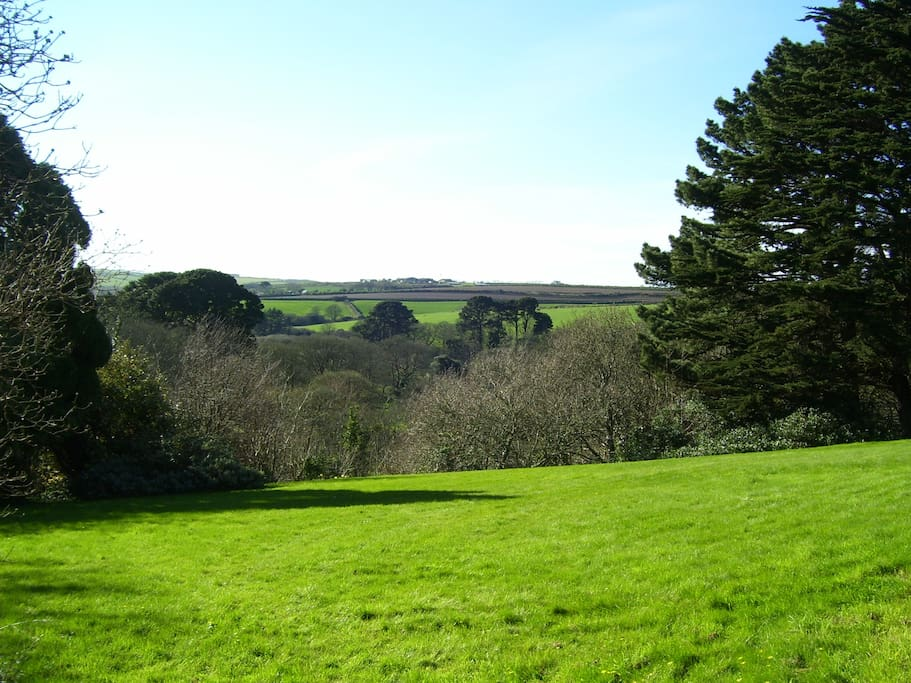 The view across the valley from the house