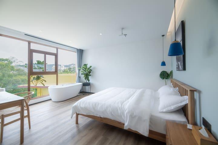 大落地窗,良好的采光和开阔的视觉,简北欧小清新ins风设计