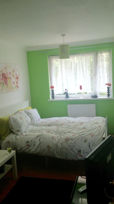 Bright sunny double bed room
