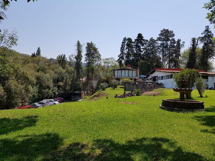 Casa Grande+Casita+GranJardín en Pueblo 19personas