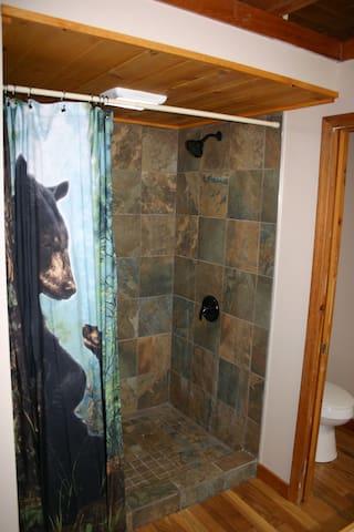Slate master shower