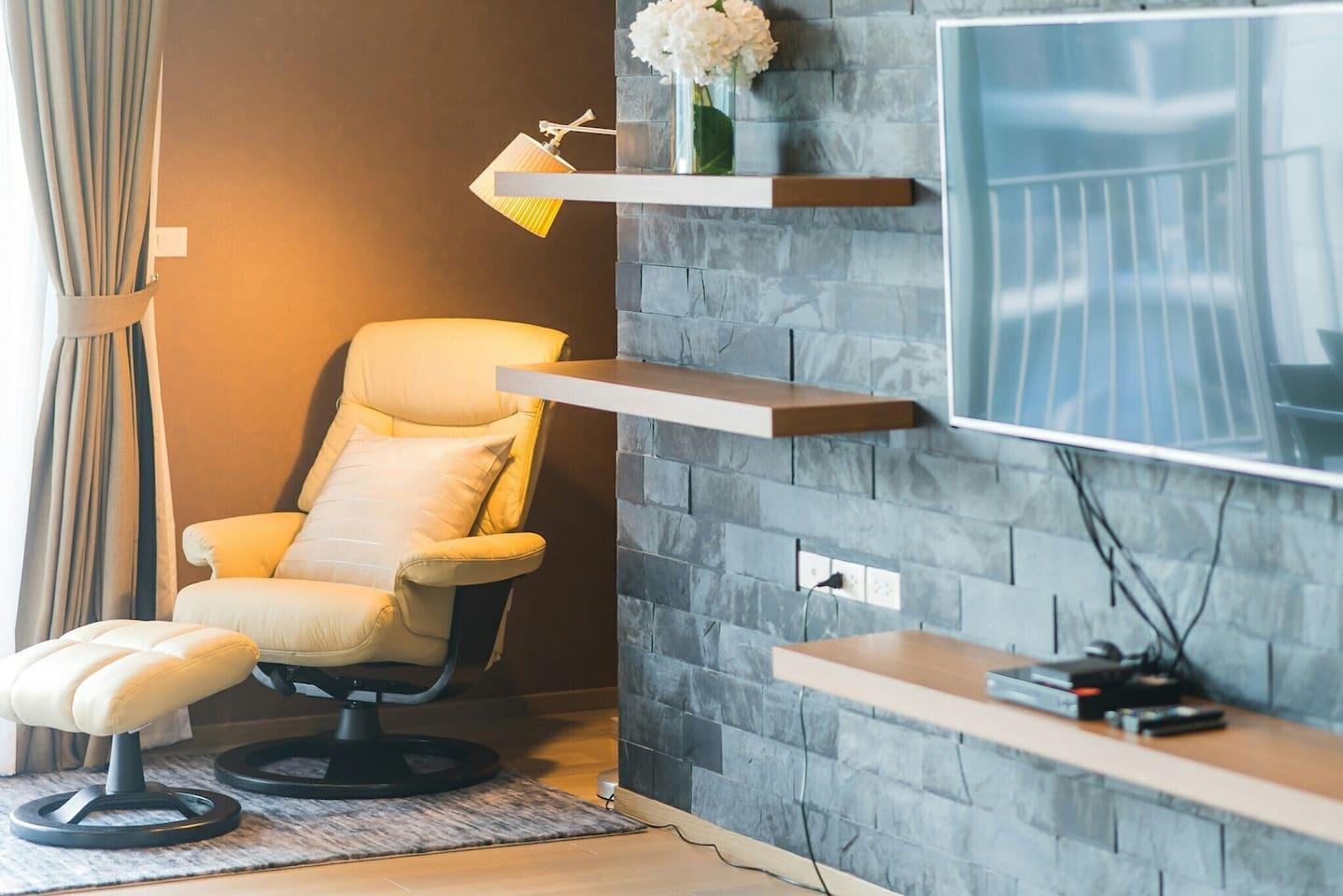 Living area with AIS playbox & Smart TV
