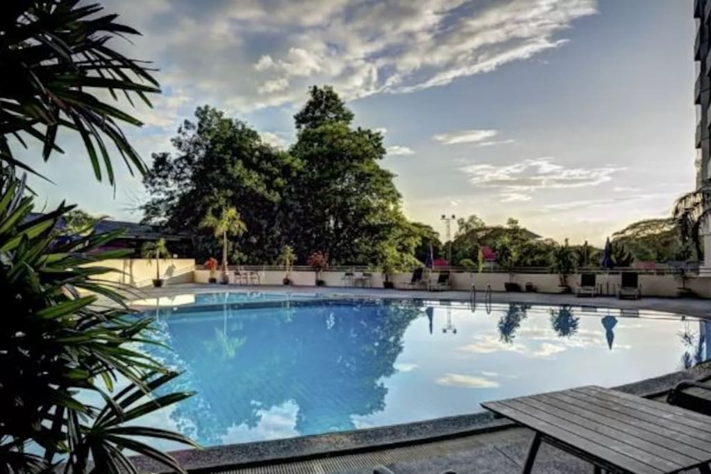 Large Pool Food Market Quiet Modern Spacious Apartments For Rent In Chiang Mai Chang Wat