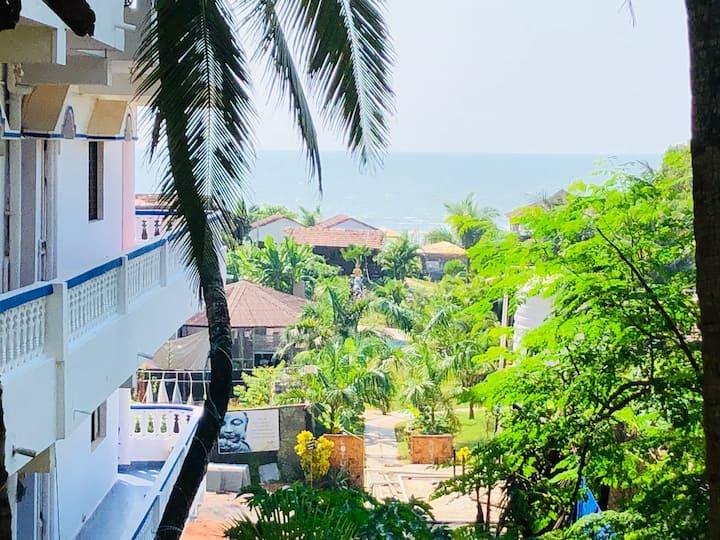 Partial Sea View non AC room at Arambol beach