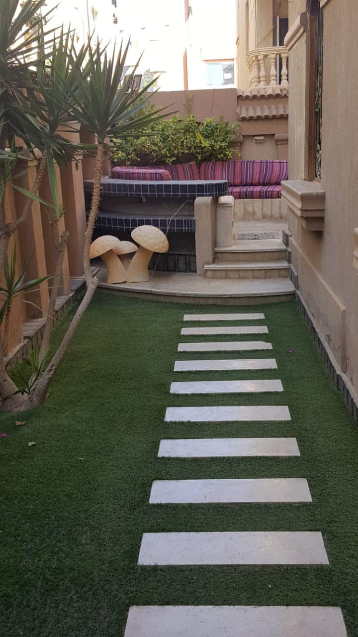 Apartment with private garden for rent new cairo