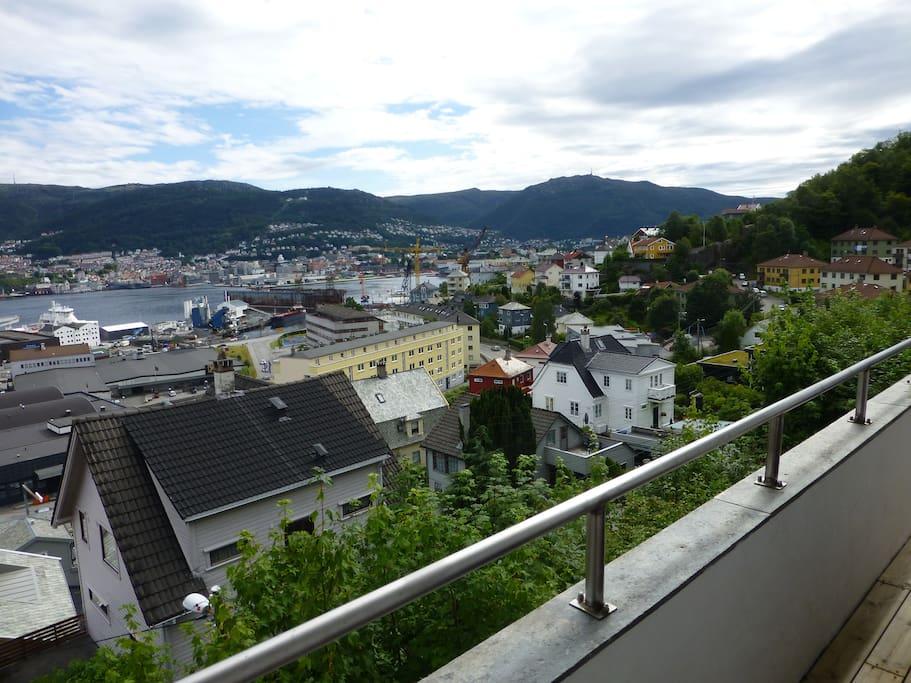 Utsikt fra altanen
