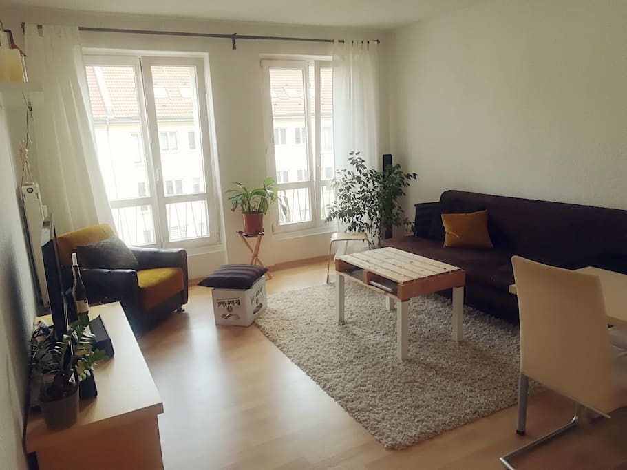 Living room with comfi sofa bed