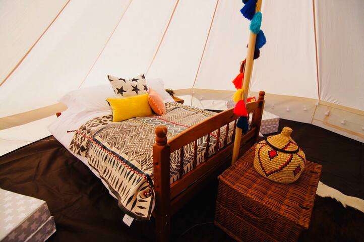 Valentines Glamorous Camping. Bell Tent (No.3)