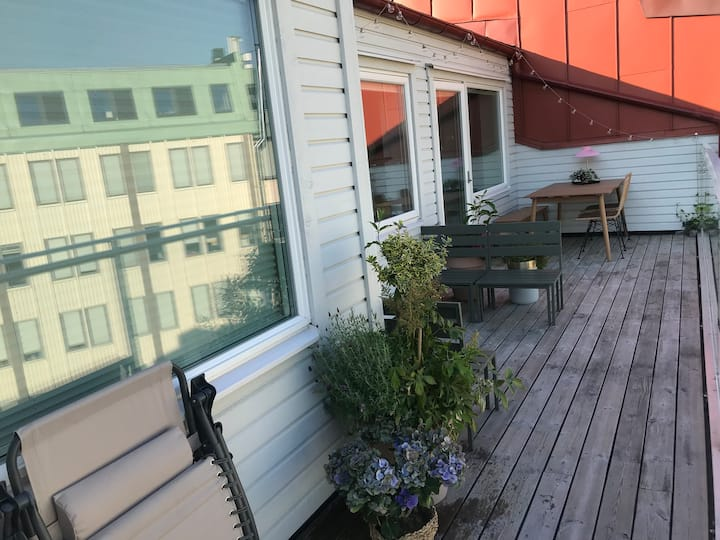 Flat with roof terrace - 10 min walk central st.