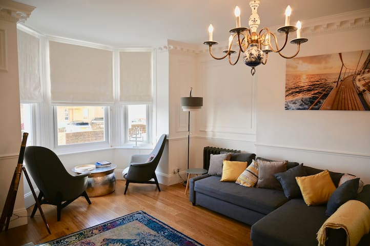 Luxury period flat with sea views and parking