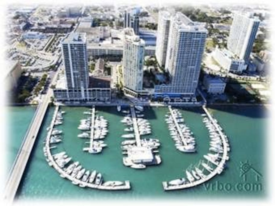 our building is on the water with a fun marina with lots of activities
