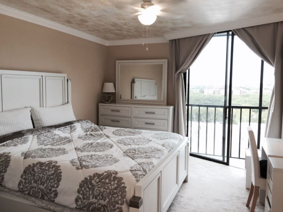 Master bedroom with fabulous view.