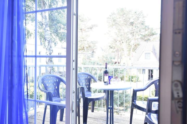 Appartement duplex / près de la plage / balcon / dans la forêt côtière