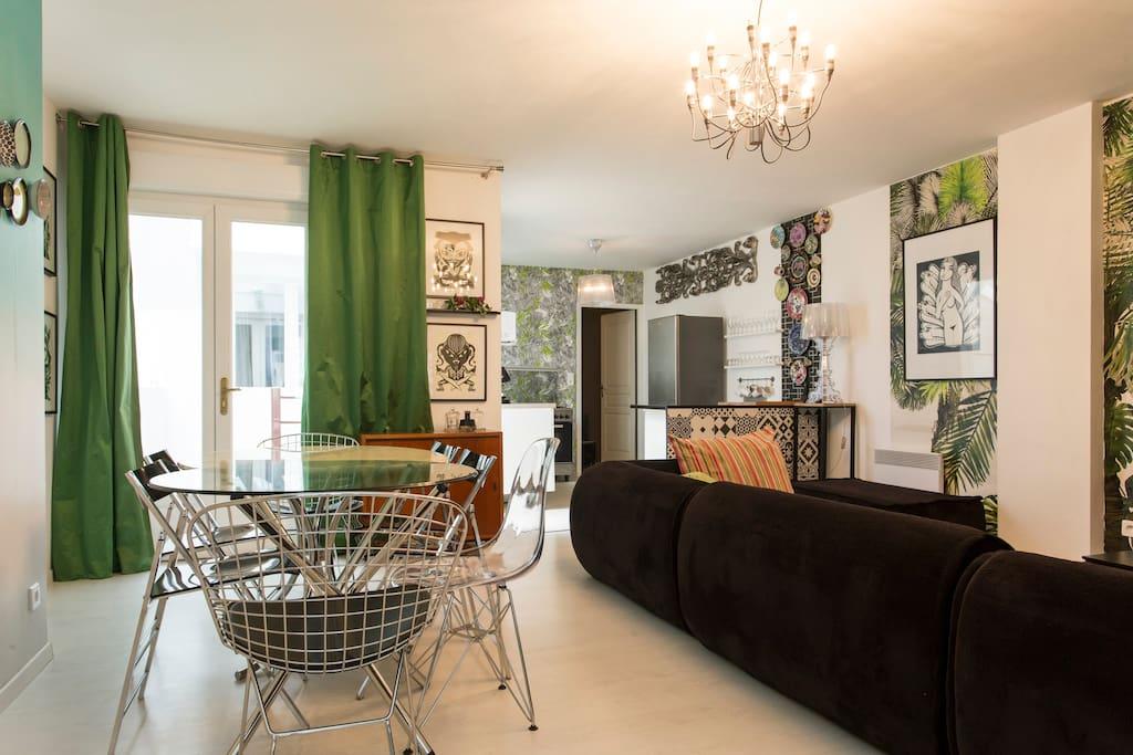 Appartement atypique de 75m2 wohnungen zur miete in for Appartement atypique