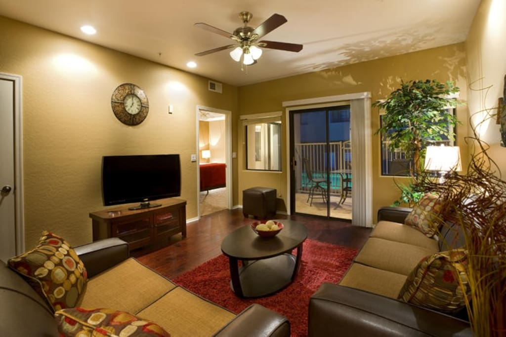 Easy access to the pool right from your private patio.