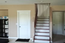 Curtain at staircase