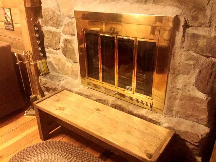 Real Wood-burning Fireplaces with Stocked Firewood