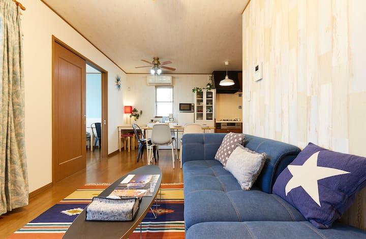 Enoshima Seaside House, 3BR, Free WiFi & Parking