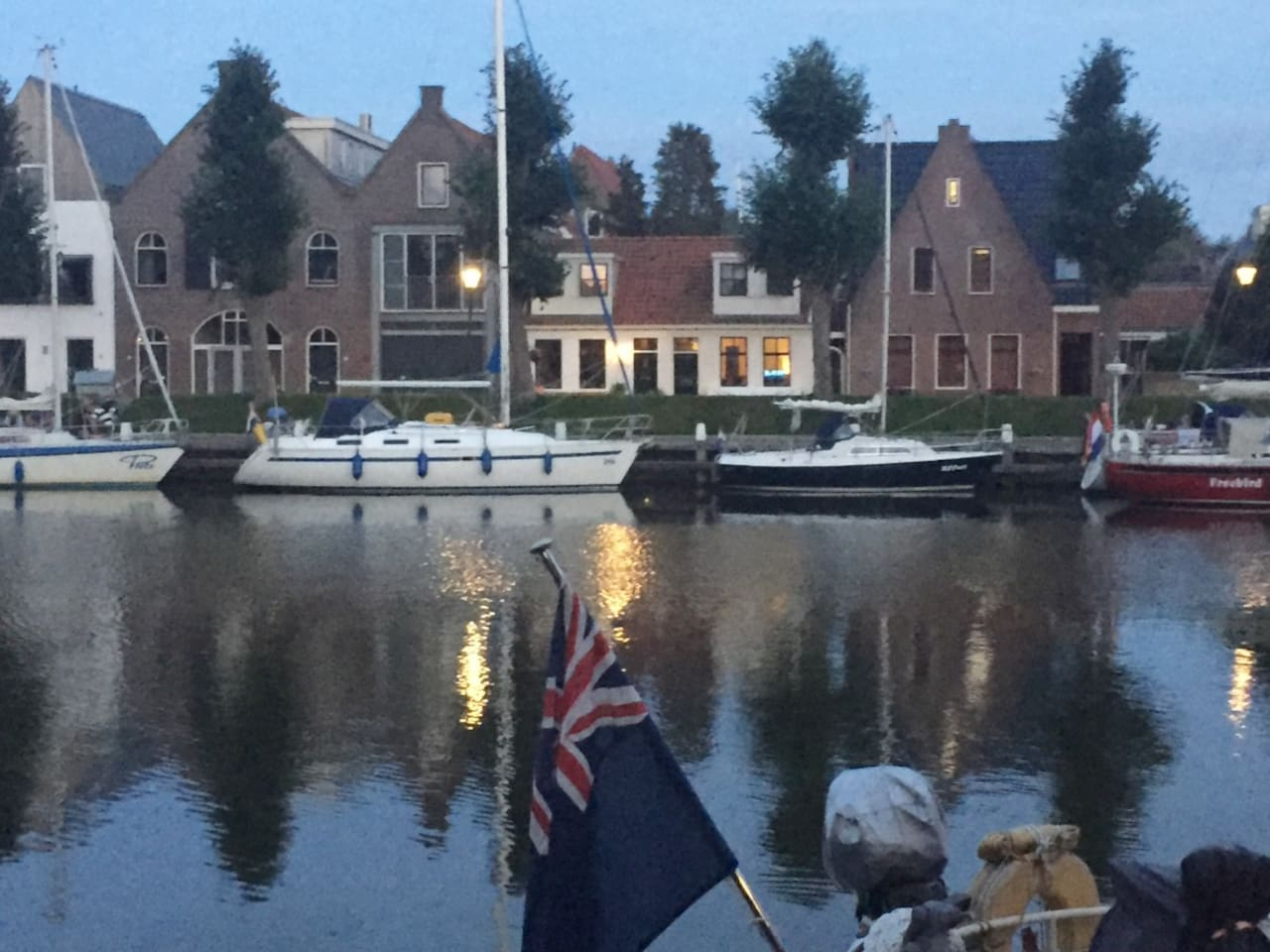 Gezicht vanaf de Oosterhaven