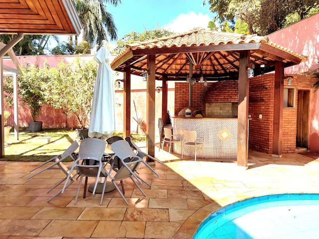 Stylish House with swimming pool and barbecue