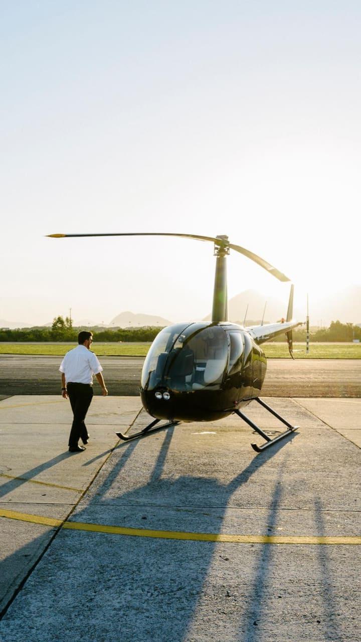 Helicopter ride in the Rio de Janeiro