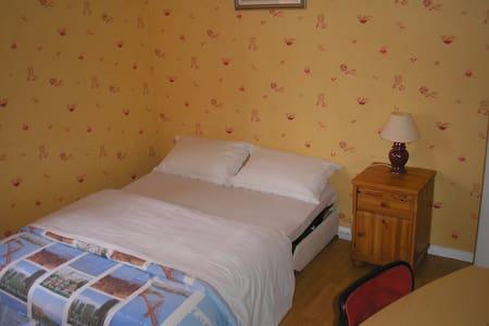 Grande chambre avec Bureau et salle de bain privée - Chanteloup-les-Vignes - 一軒家