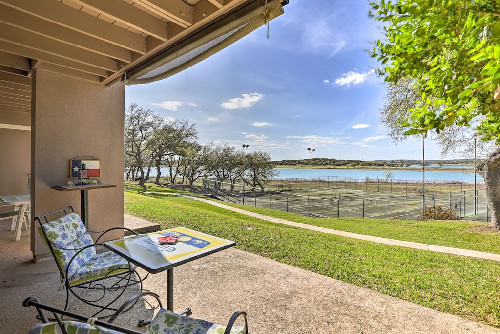 Elevate your Canyon Lake holiday at this charming waterfront condo!