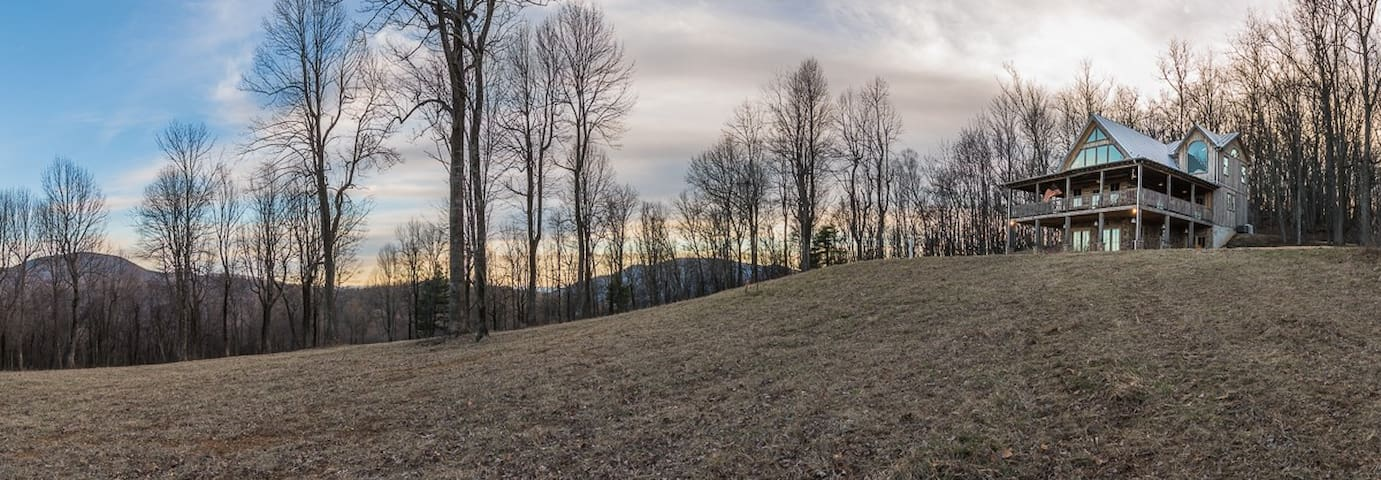 Perched on the tip top of nearly 60 acres!
