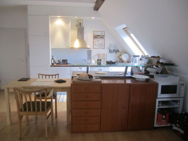 Open-plan kitchen.