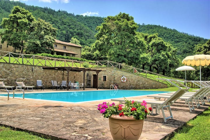 Beautiful private villa with WIFI, A/C, private pool, TV, pets allowed, panoramic view and parking